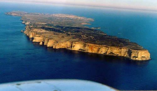 Anflug Do28 Insel Lampedusa