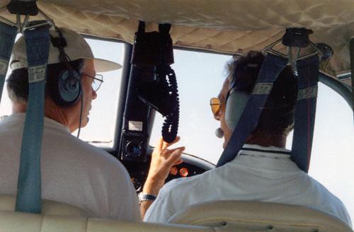 Do 28 D-ILPB Cockpit Flug Insel Lampedusa