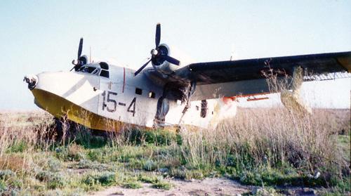 Flugzeug Grumman Albatros auf dem Flughafen Lampedusa
