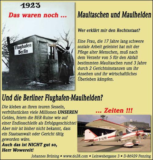 Aeromarkt Anzeige
